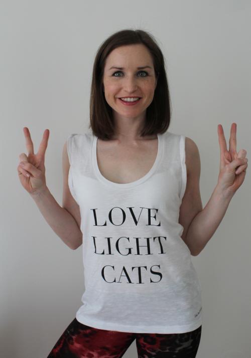 Licht und Liebe, Katzenliebe, Catlover, Katzenliebhaber, Yoga Tank Top, Kundalini Yoga